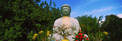Low Angle View Of A Buddha Statue Poster by Panoramic Images