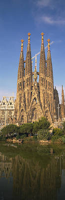 Low Angle View Of A Cathedral, Sagrada Poster by Panoramic Images
