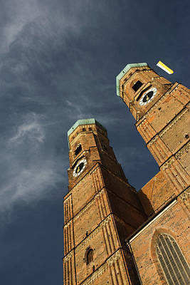Low Angle View Of A Church, Munich Poster by Panoramic Images