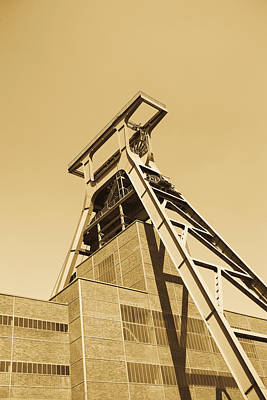 Low Angle View Of A Coal Mine Poster