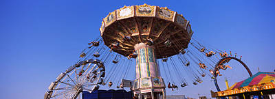 Low Angle View Of A Ride At An Poster by Panoramic Images