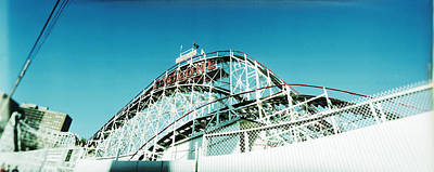 Low Angle View Of A Rollercoaster Poster