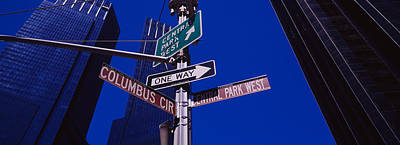 Low Angle View Of A Street Name Sign Poster by Panoramic Images