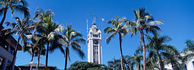 Low Angle View Of A Tower, Aloha Tower Poster by Panoramic Images