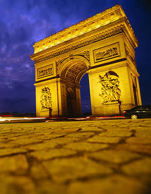 Low Angle View Of A Triumphal Arch, Arc Poster