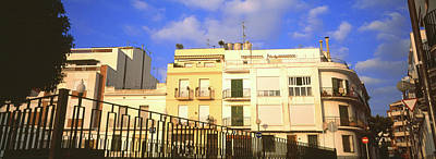 Low Angle View Of Buildings, Sitges Poster by Panoramic Images