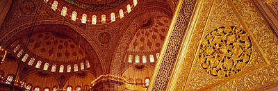 Low Angle View Of Ceiling Of A Mosque Poster by Panoramic Images