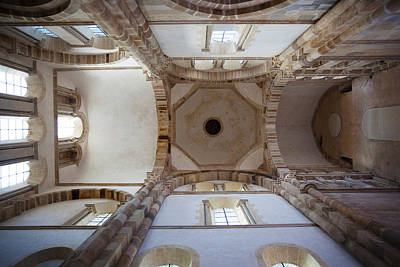 Low Angle View Of Ceiling Of An Abbey Poster by Panoramic Images