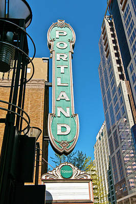 Low Angle View Of Portland Landmark Poster by Panoramic Images
