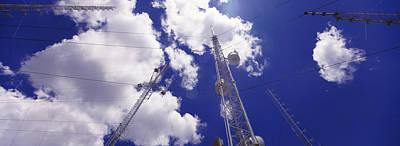 Low Angle View Of Radio Antennas Poster