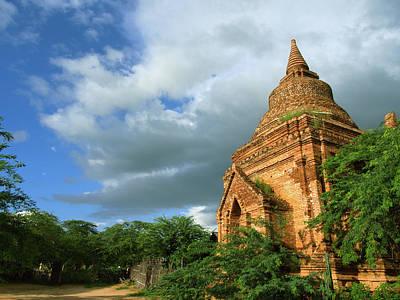 Low Angle View Of Stupa In Min Nan Thu Poster