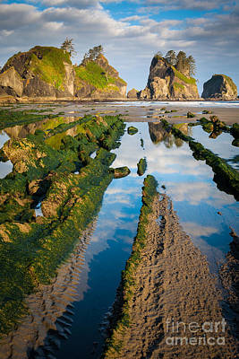 Low Tide At Point Of The Arches Poster