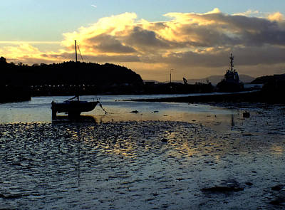 Low Tide On The Harbour Poster