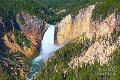 Lower Falls Yellowstone 2 Poster by Teresa Zieba