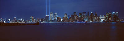 Lower Manhattan, Beams Of Light, Nyc Poster by Panoramic Images