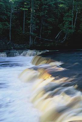 Poster featuring the photograph Lower Tahquamenon Falls by Randy Pollard