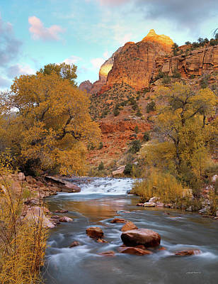 Lower Virgin River In Autumn Poster by Leland D Howard