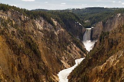 Lower Yellowstone Canyon Falls 4 - Yellowstone National Park Wyoming Poster