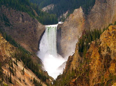 Poster featuring the photograph Lower Yellowstone Falls by Eric Tressler