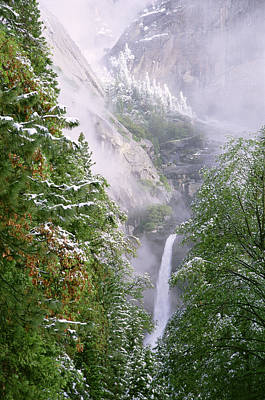 Lower Yosemite Falls After A Spring Storm Poster