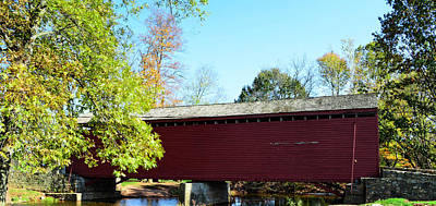Loy's Station Covered Bridge Poster by Cathy Shiflett