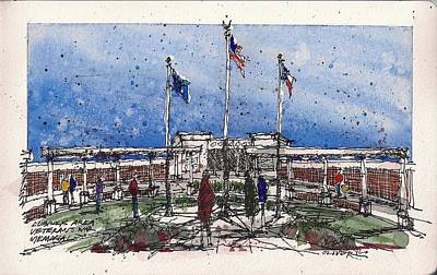 Poster featuring the mixed media Lubbock Area Veterans War Memorial by Tim Oliver