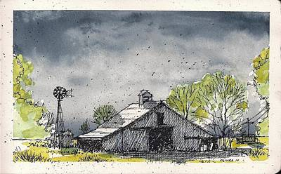 Poster featuring the mixed media Lubbock County Barn by Tim Oliver