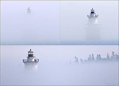 Lubec Channel Lighthouse Poster by Marty Saccone