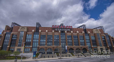 Lucas Oil Stadium Indianapolis Colts Clouds Poster by David Haskett