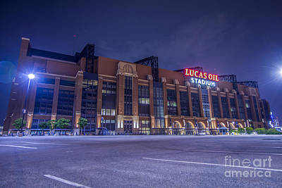 Lucas Oil Stadium Indianapolis Colts Poster by David Haskett