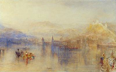 Lucerne From The Lake Poster by JMW Turner