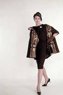 Lucinda Hollingsworth Wearing Tweed Dress Poster