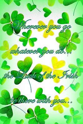 Luck Of The Irish Poster by The Creative Minds Art and Photography