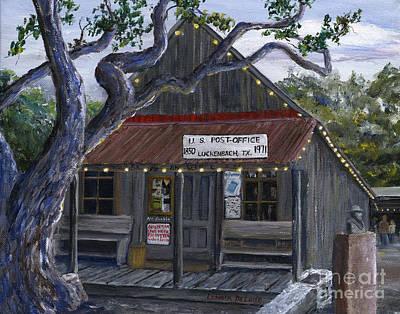 Luckenbach Texas Hill Country Poster