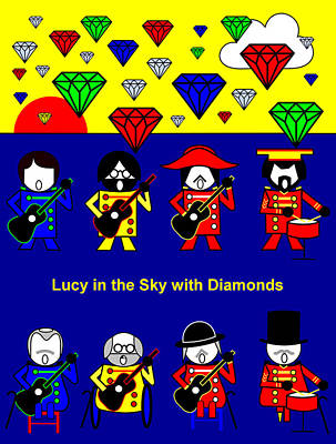 Lucy In The Sky With Diamonds Poster by Asbjorn Lonvig