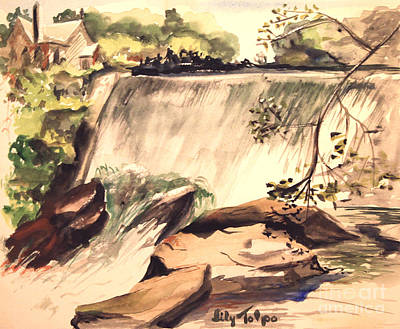 Ludington Michigan Spillway Poster