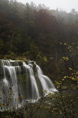 Ludlowville Falls In Autumn I Poster