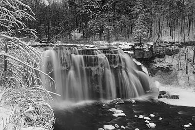 Ludlowville Falls In Winter I Poster by Michele Steffey