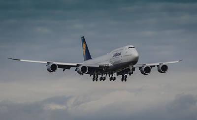 Lufthansa Boeing 747 Landing  Poster