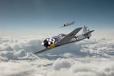 Luftwaffe - Fw190 Poster by Pat Speirs