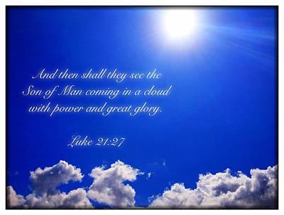 Luke 21 27 Poster