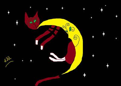 Lulu Slip Of A Moon Poster by Anita Dale Livaditis