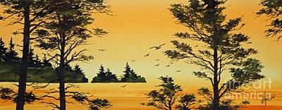 Luminous Sunset Poster