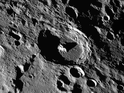 Lunar Crater Piccolomini Poster by Damian Peach