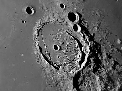 Lunar Crater Posidonius Poster by Damian Peach