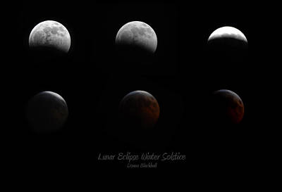 Lunar Eclipse Winter Solstice Poster