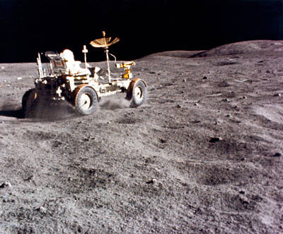 Lunar Vehicle Speed Run Poster