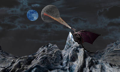 Lunar Warming Poster by Brainwave Pictures