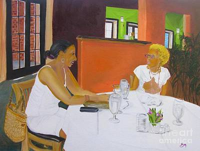 Lunch At Olivadi's  Poster by Barbara Hayes