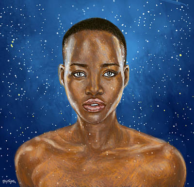 Lupita Nyong'o A Beauty Simply Out Of This World  Poster